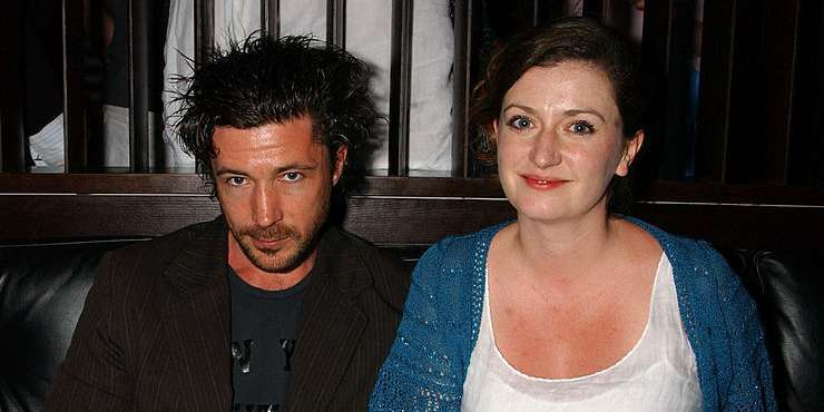 Aidan Gillen with His Wife