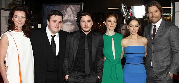 John Bradley West with Game of Thrones Casts