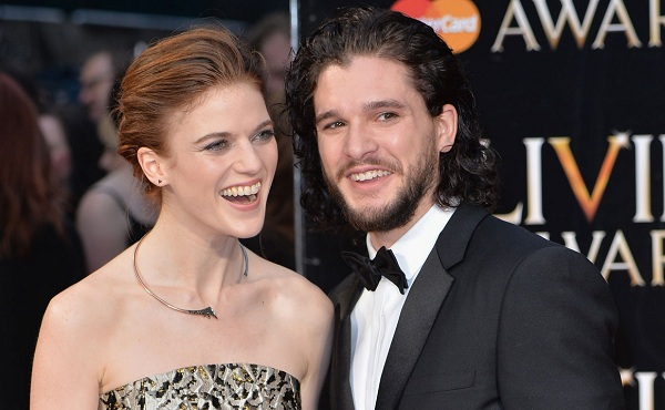 Kit Harington with Rose Leslie in Red Carpet