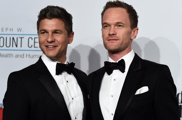 Neil Patrick Harris with his gay partner David Burtka