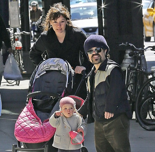 Peter Dinklage with Wife and Child