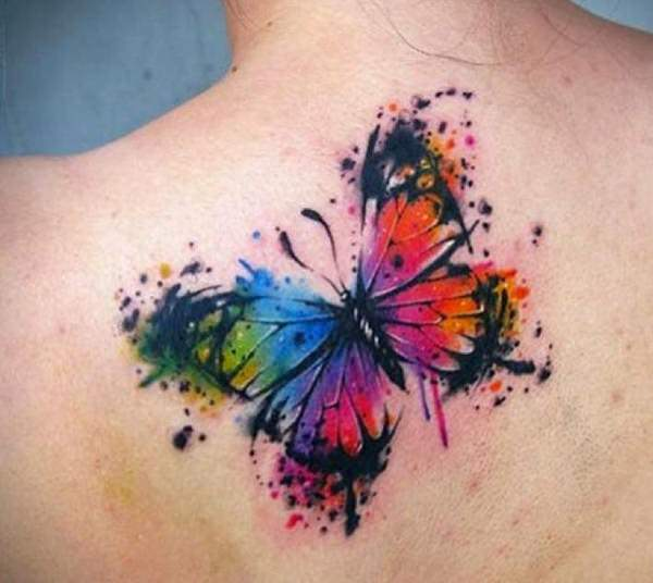 Watercolor Flower Moth Tattoo My Precious Ink: 157 Beautiful Butterfly Tattoo Designs For Everyone Who